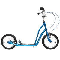 "Самокат OLIMP 14"" BLUE, рама: Hi-Ten, обода: Al, тормоз: V-brake, колёса 14"", подножка, макс.нагрузка 65 кг"