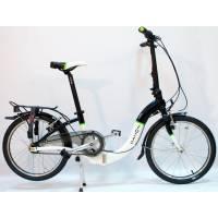 """DAHON Ciao i7 Black-White, велосипед складной, колёса 20"""", крылья, багажник, насос, 7 скор."""