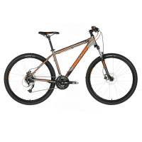 "KELLYS Viper 50 Black Orange Neon, МТВ велосипед, колёса 27,5"", рама:AI 6061 17,5"", 24 скор."