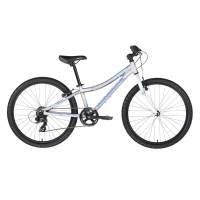 "KELLYS Kiter 30 Silver, подростковый велосипед, колёса 24"", рама алюминиевая 11"", 7 скор., без амортизатора"