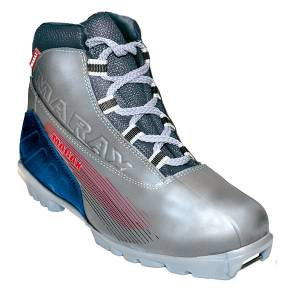 Ботинки лыжные МXN-300 серебро NNN р.37